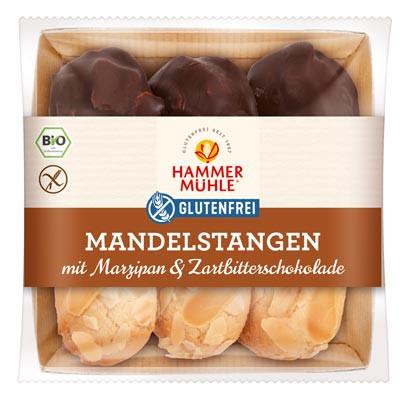 Bio Mandelstangen mit Marzipan & Zartbitterschokolade