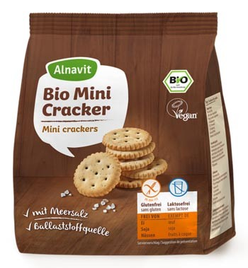 Bio Mini Cracker mit Meersalz