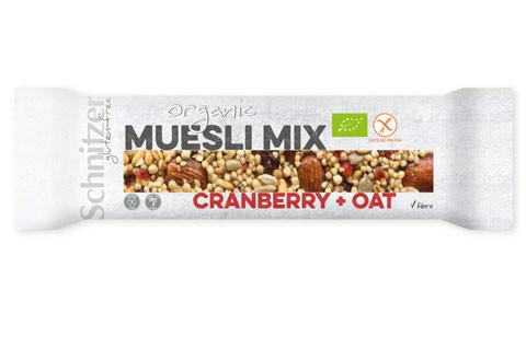 Bio Müsli Mix Riegel Cranberry + Oat