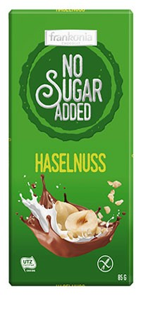 No Sugar Added Haselnuss Schokolade