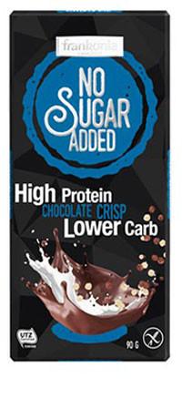 No Sugar Added High Protein Chocolate Crisp Schokolade