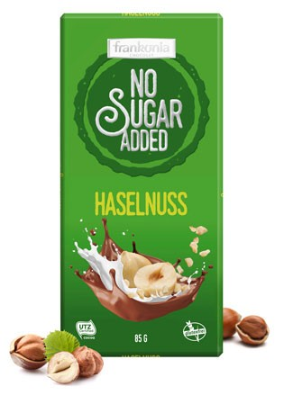 No Sugar Added Haselnuss Schokolade