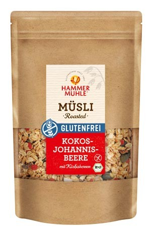 Bio Roasted Müsli Kokos Johannisbeere mit Kürbiskernen