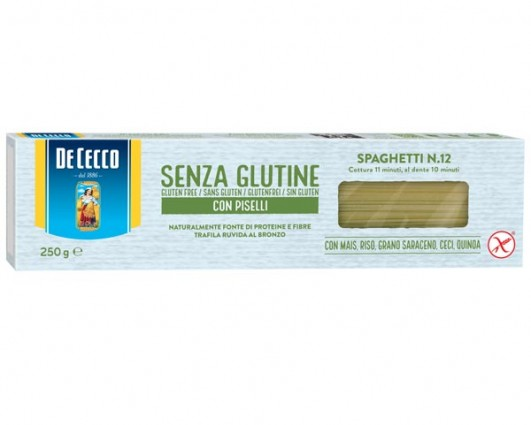 Spaghetti n.12 glutenfrei mit Erbsen