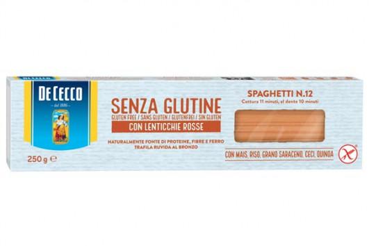 Spaghetti n.12 glutenfrei mit roten Linsen