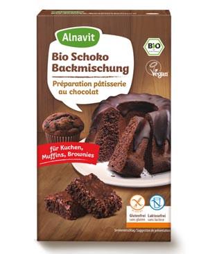 Bio Schoko Backmischung für Kuchen, Muffins, Brownies