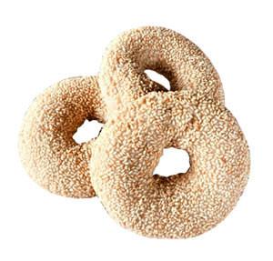 Glutenfreie Sesam Bagel, frisch gebacken