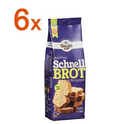 Sparpaket 6 x Schnellbrot mit Brotgewürz
