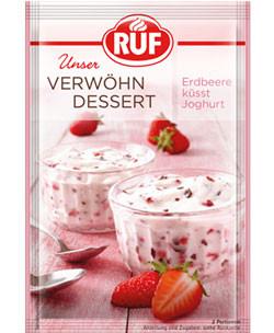 Verwöhn Dessert - Erdbeere küsst Joghurt