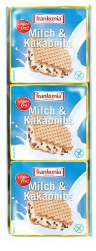 Milch & Kakaonibs Waffelschnitten laktosefrei