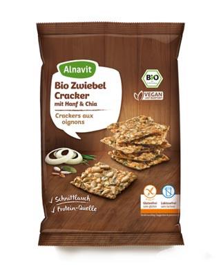 Bio Zwiebel Cracker mit Hanf & Chia