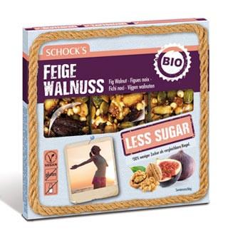 Bio Feige Walnuss Riegel Less Sugar