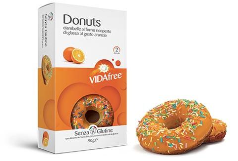 Glutenfreie Donuts Orange