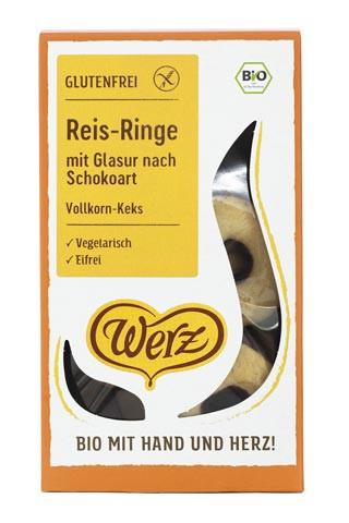 Reis-Ringe mit Glasur nach Schokoart