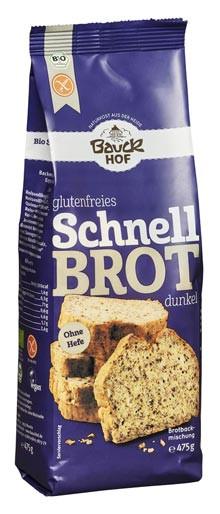 Glutenfreies Schnell Brot dunkel