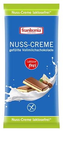 Nuss-Creme gefüllte Vollmilchschokolade laktosefrei