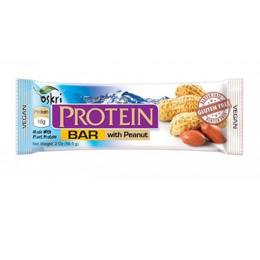 Protein Riegel mit Erdnüssen& Zartbitterschokolade