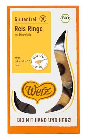 Reis Ringe mit Schokolade