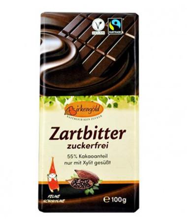 Zartbitter-Schokolade zuckerfrei
