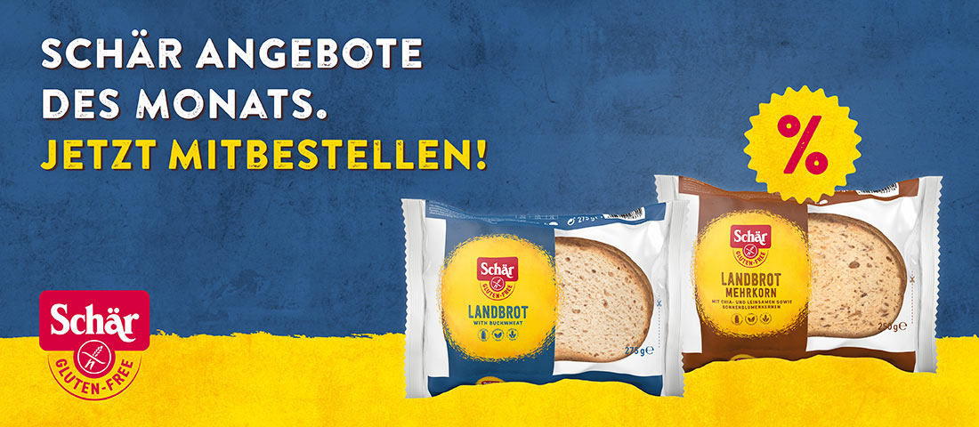 Schär Landbrot Aktion - Bei Glutenunverträglichkeit hier einkaufen!