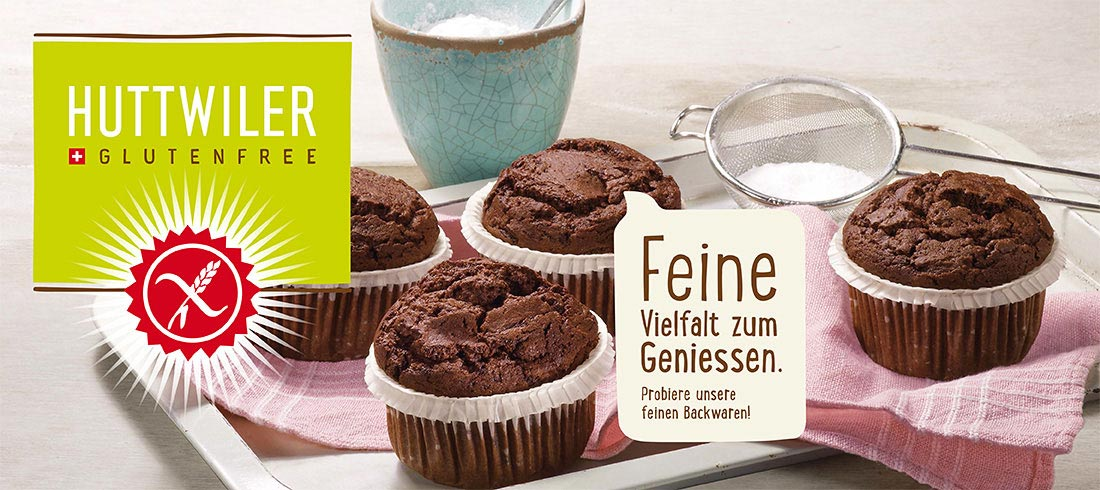 Huttweiler glutenfreie Muffins - Bei Glutenunverträglichkeit hier einkaufen!
