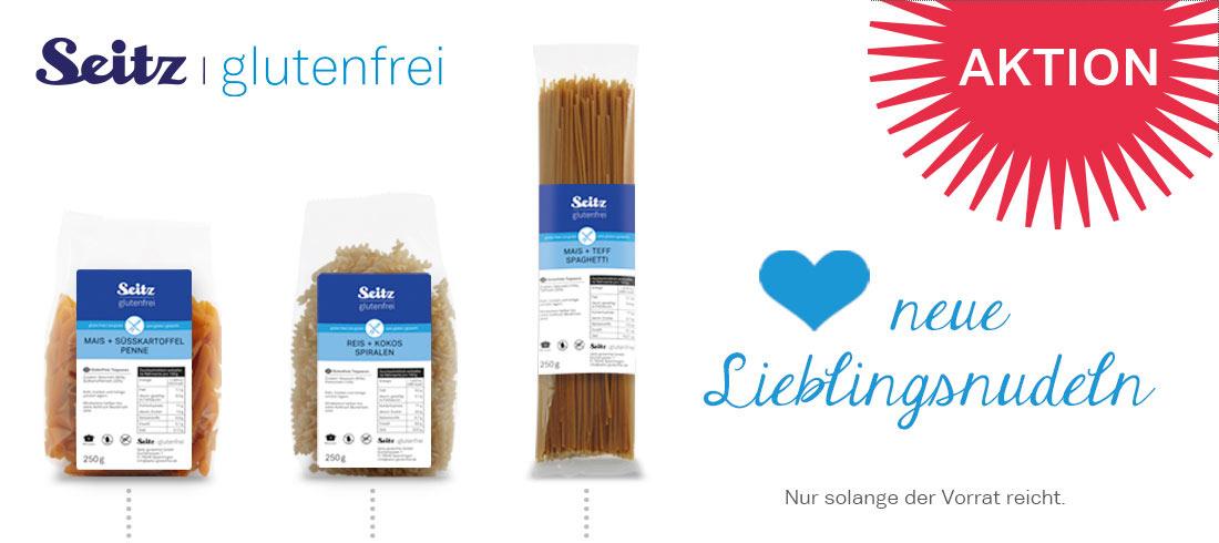 Neue glutenfreie Nudeln von Seitz - Bei Glutenunverträglichkeit hier einkaufen!