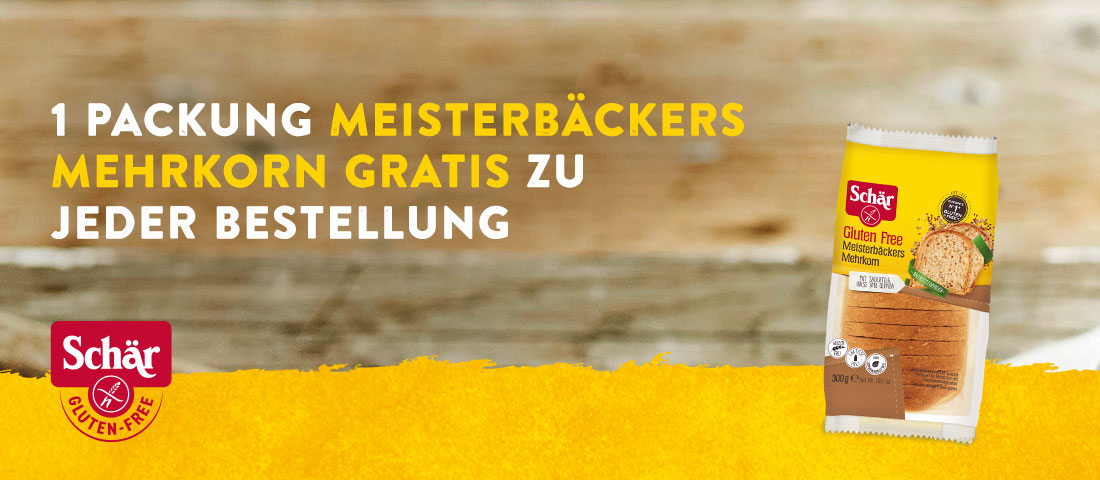 Schär Aktion Meisterbäckers Mehrkorn Brot gratis - Bei Glutenunverträglichkeit hier einkaufen!