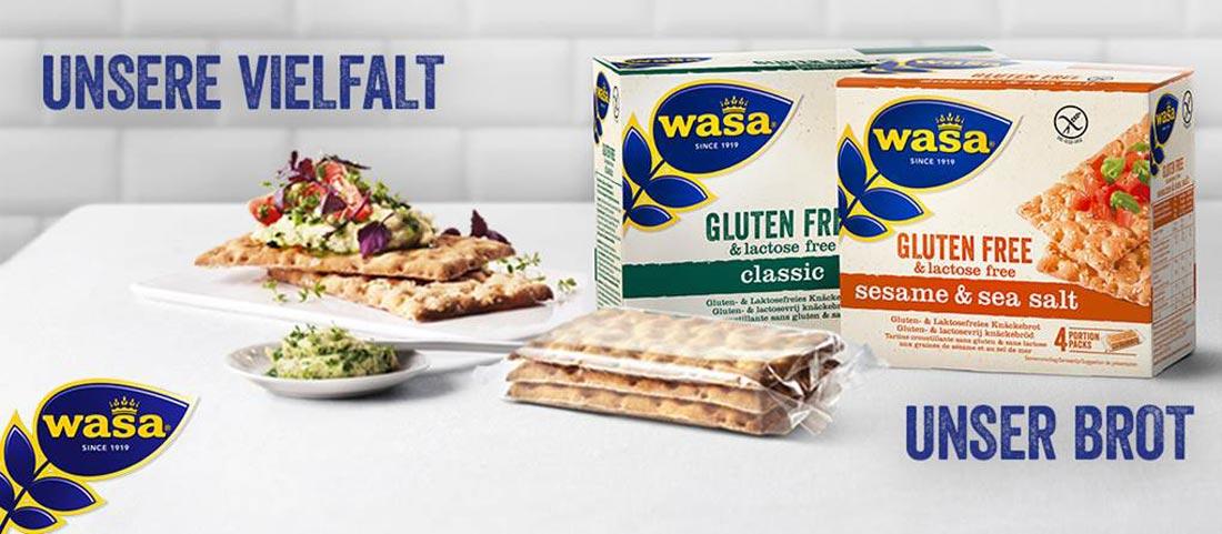 Wasa - glutenfreies Knäckebrot - Bei Glutenunverträglichkeit hier einkaufen!